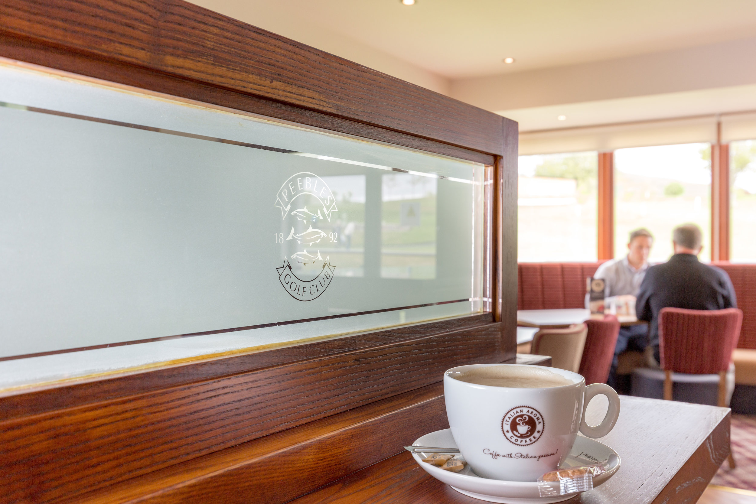 MEMBERS AND VISITORS CAN ENJOY OUR NEW RANGE OF ITALIAN AROMA BARISTA SERVED COFFEES, FLAVOURED TEAS AND HOT CHOCOLATE