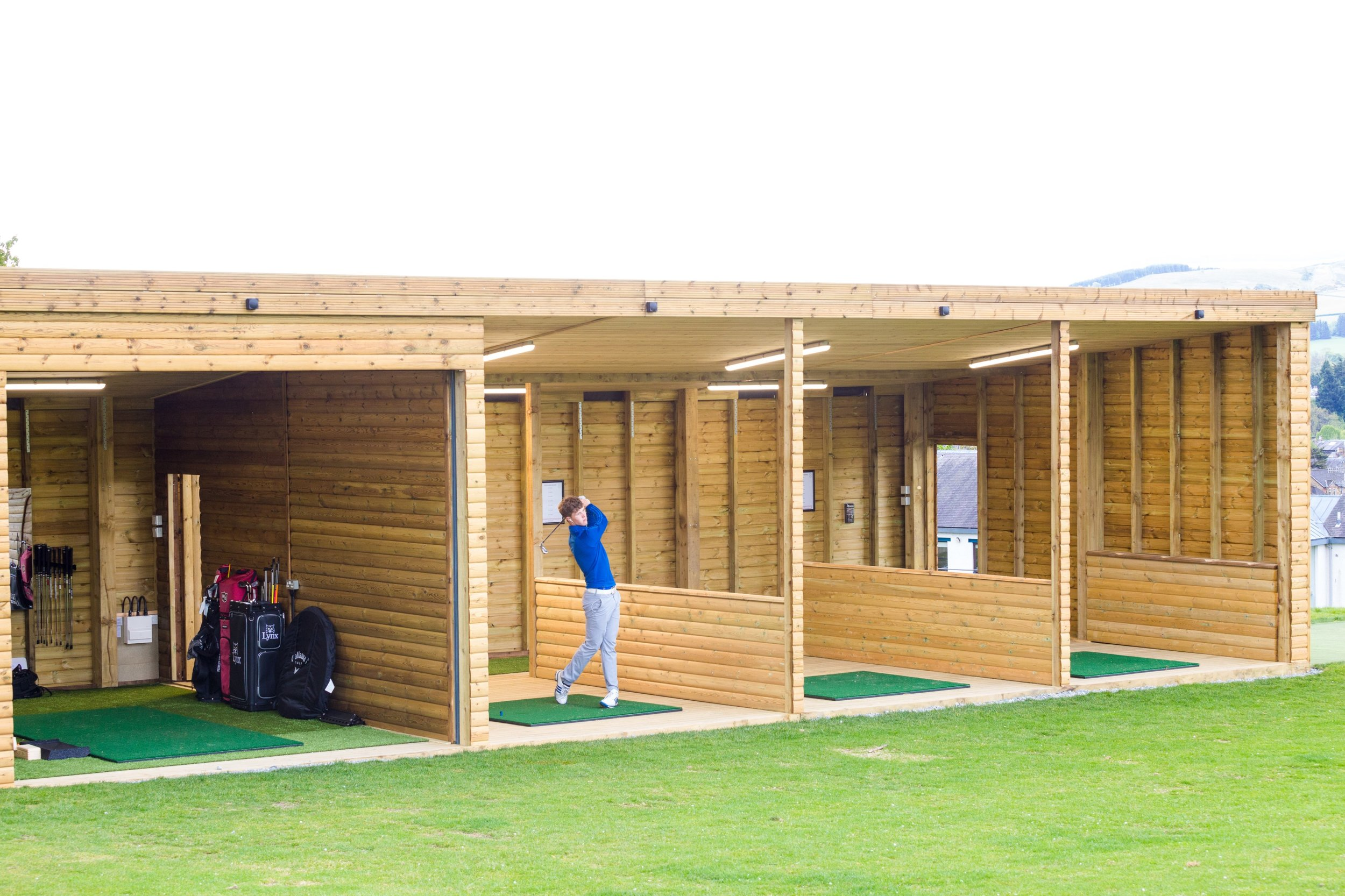 The new driving range features a swing studio, 3 additional indoor bays and 2 outdoor bays