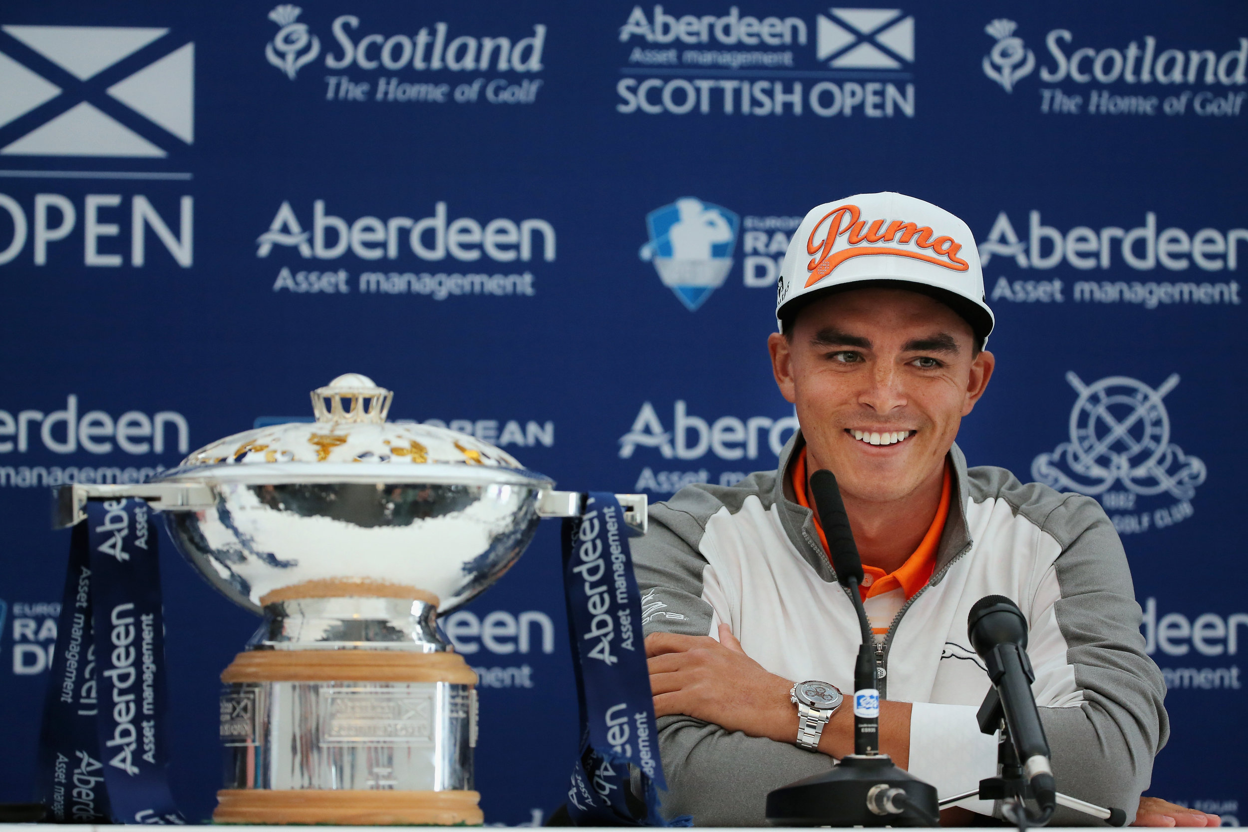 Rickie Fowler and the AAM trophy