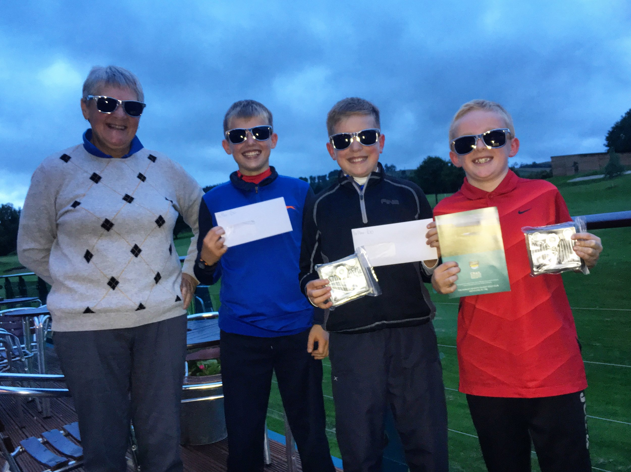 Sheila with her young partners from the victorious Odd Shaped Ball team