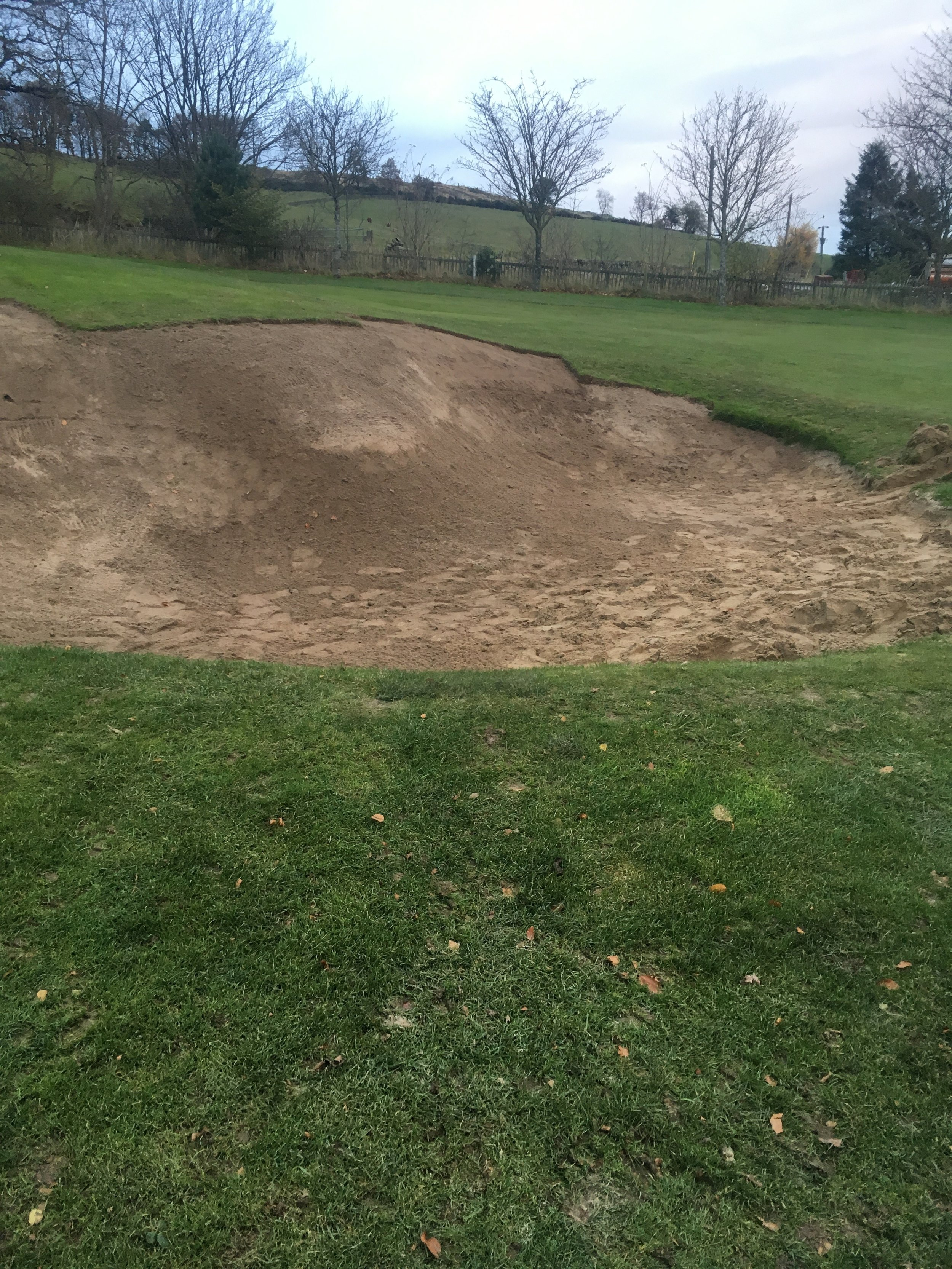 4th Green side bunker during improvement work