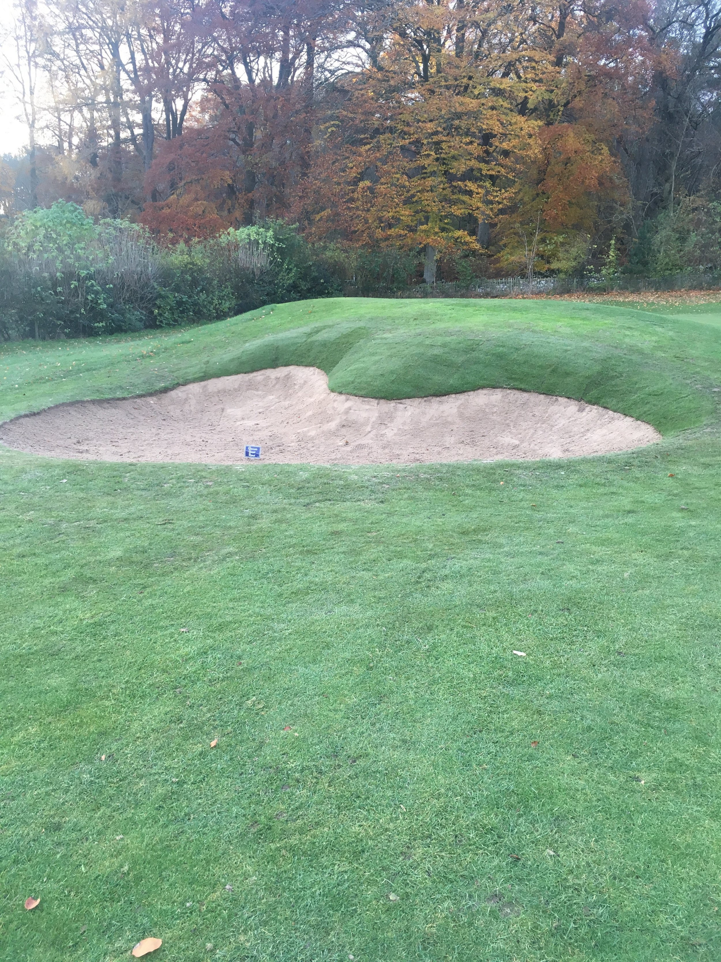 Completed greenside bunker on the 4th