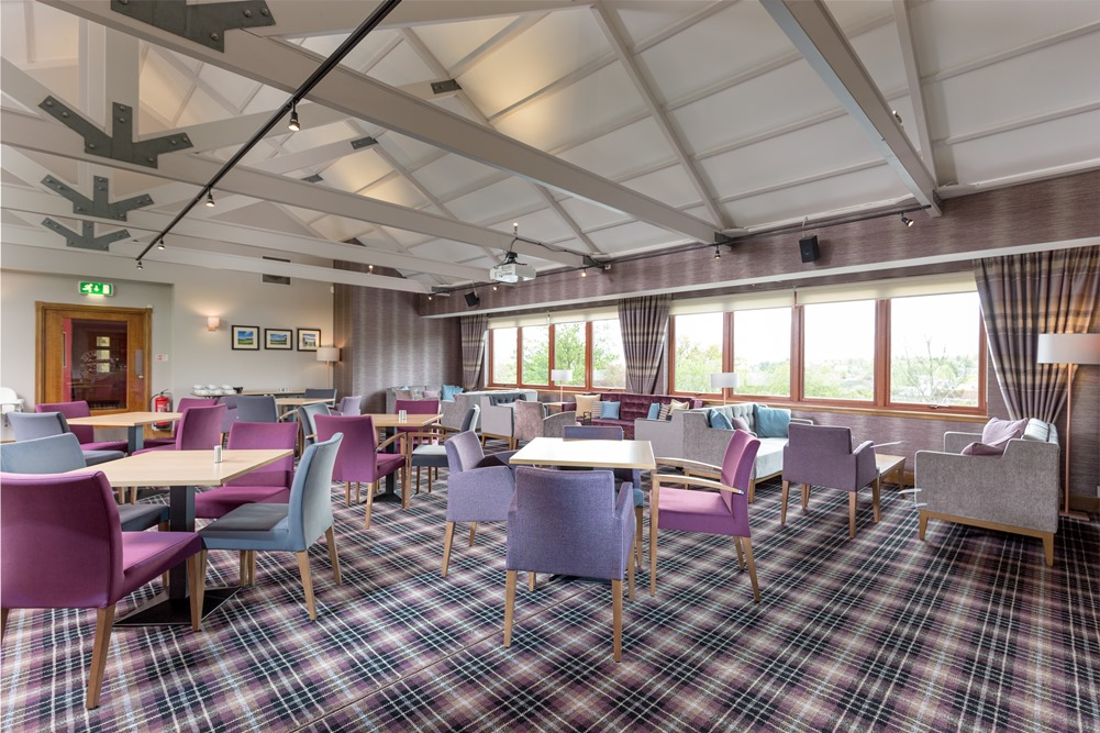 The recently refurbished lounge within the clubhouse