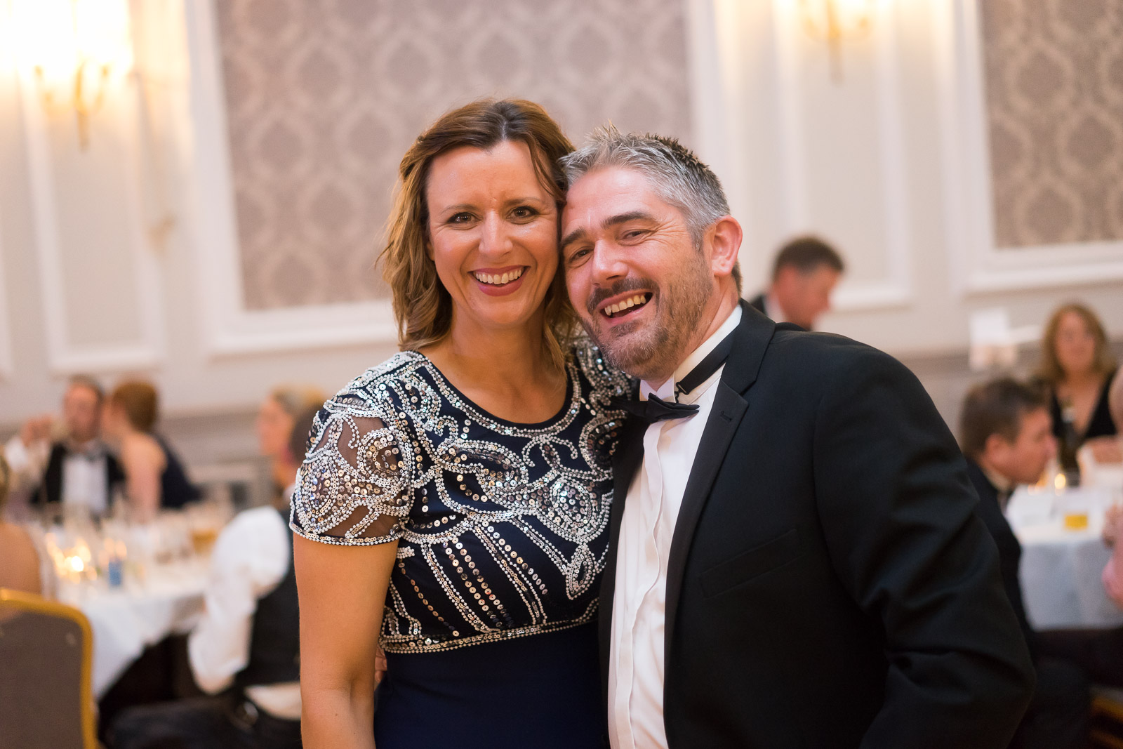 Vice-captain elect Gavin Carruthers and wife at last year's 125 Anniversary Ball