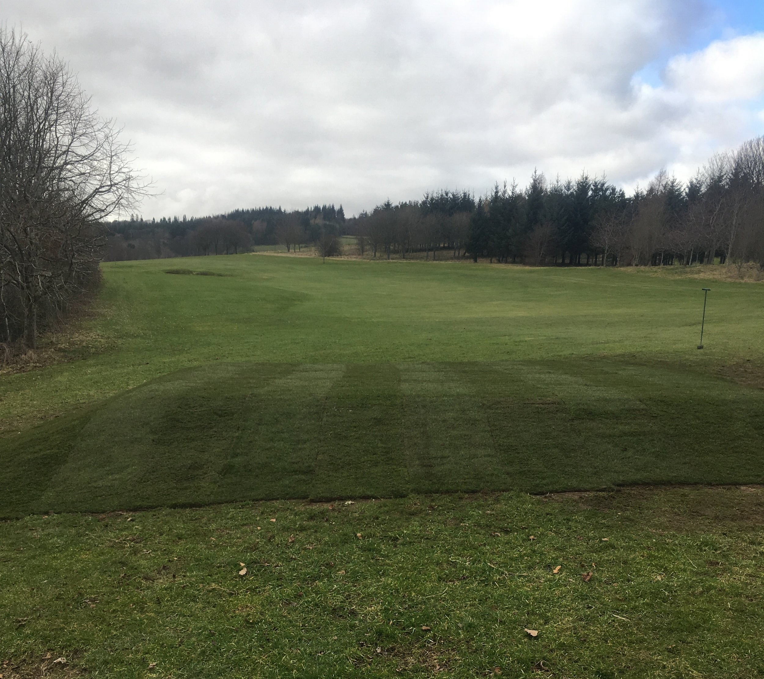 New ladies 2nd tee has been finalised and turfed