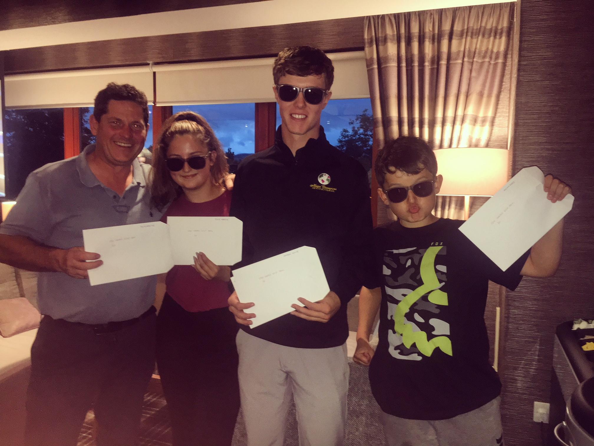 Team Winners: Rick Martin, Ellie Martin, Darren Howie and Ben Martin (standing in for ricky sked)