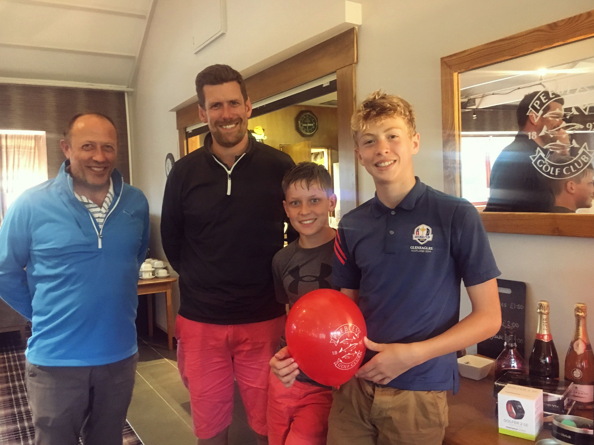 Runners-Up Nigel Furness, Mark Thomson, Chris Thomson and Oliver Furness