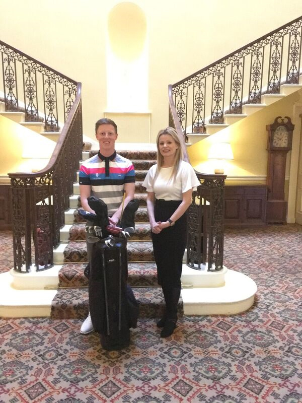 "- ""I am delighted that Stobo have committed to getting on board again. Their support over the last 12 months was a huge catalyst for my successful year on the Pro Golf Tour and their backing has been great. The reality is that I wouldn't be able to travel and compete without their help, so it is hugely appreciated and I am proud to be associated with their brand for another year.""""The members of Peebles Golf Club have also been very supportive and I know they're all rooting for me to do well and have someone representing the town at a high level. I'm excited about playing on the Challenge Tour and I can't wait to get started.""Craig Howie is pictured with Stobo Castle's Marketing Manager Jenni Watts"