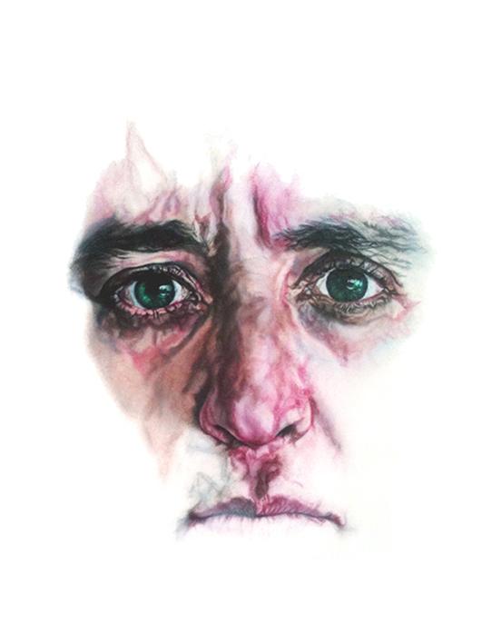avec moi - 2010   130cm x 110cm  chalk pastel