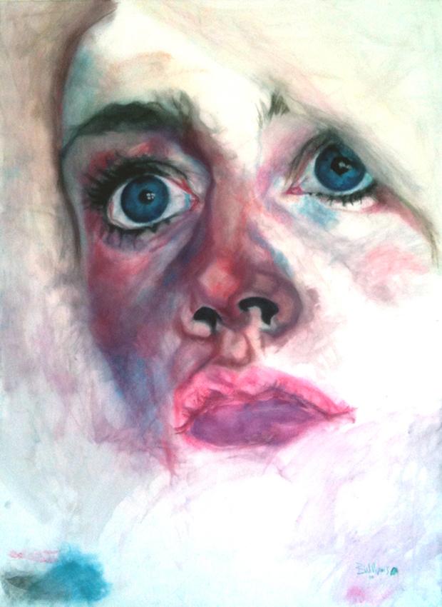 gaze - 2010  150cm x 120cm  chalk pastel