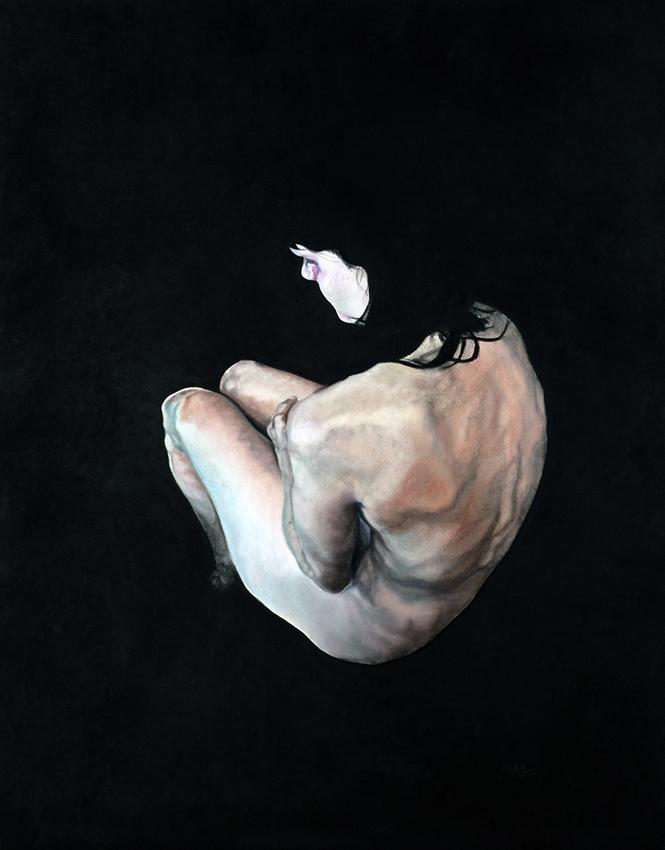 stillness - 2010  150cm x 110cm  chalk pastel