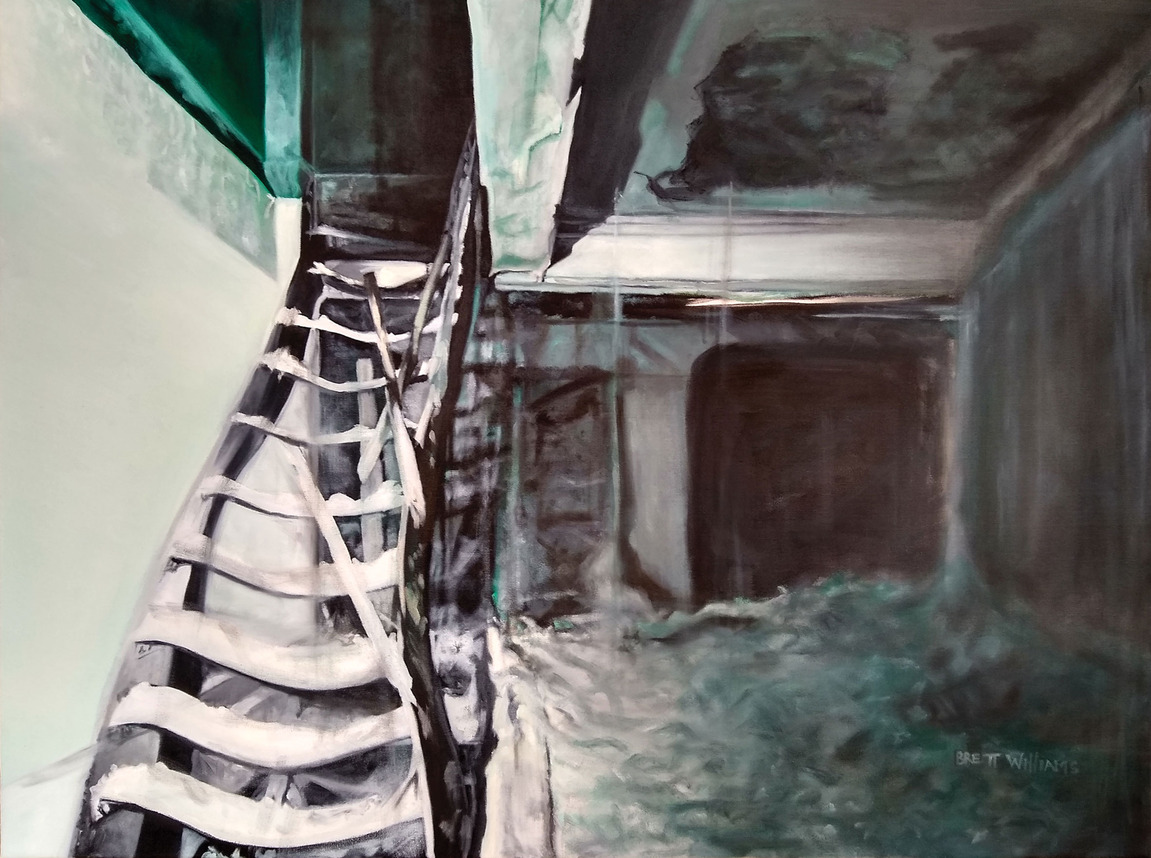 "State of Our House I  40"" x 30""  oil on canvas"