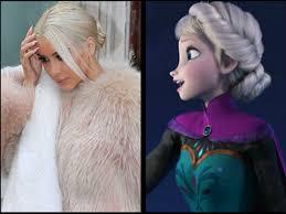 Elsa inspirando a las famosas...