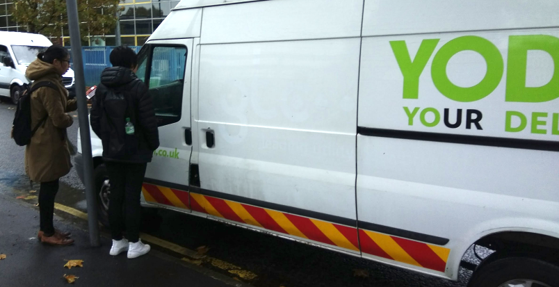interview the Yodel driver