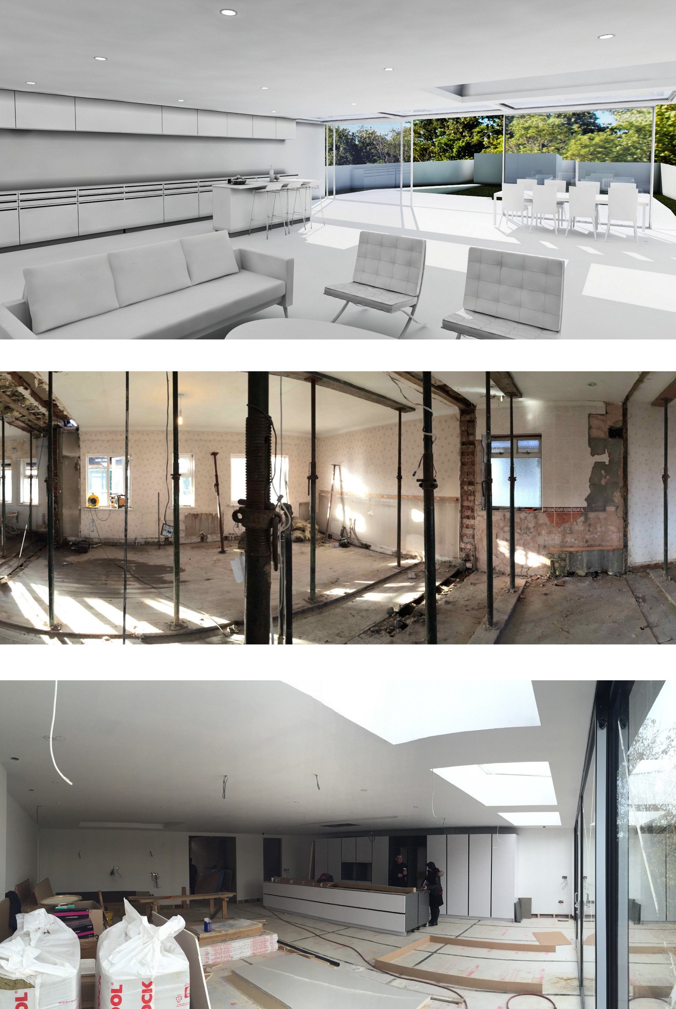 StudioBasheva progress kitchen living room