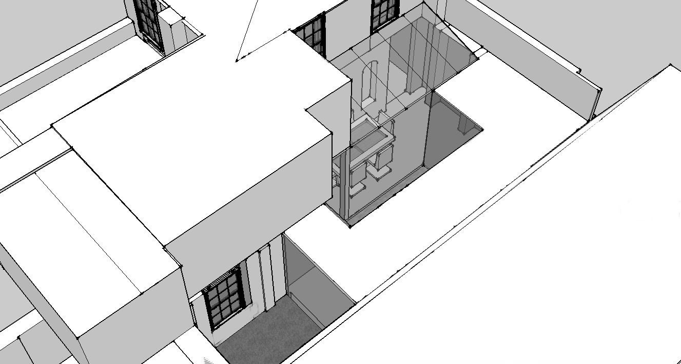 Sketch work on a new private house.