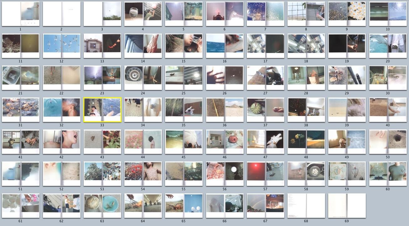 將所有頁面一次呈現,才能發現影像順序的重要性。