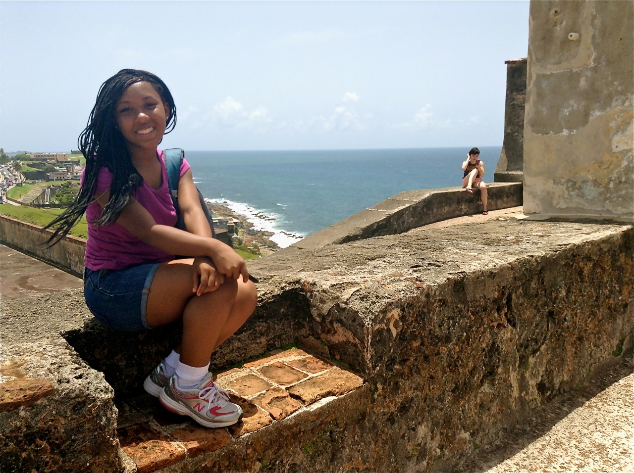 India on top of San Cristobal Fort