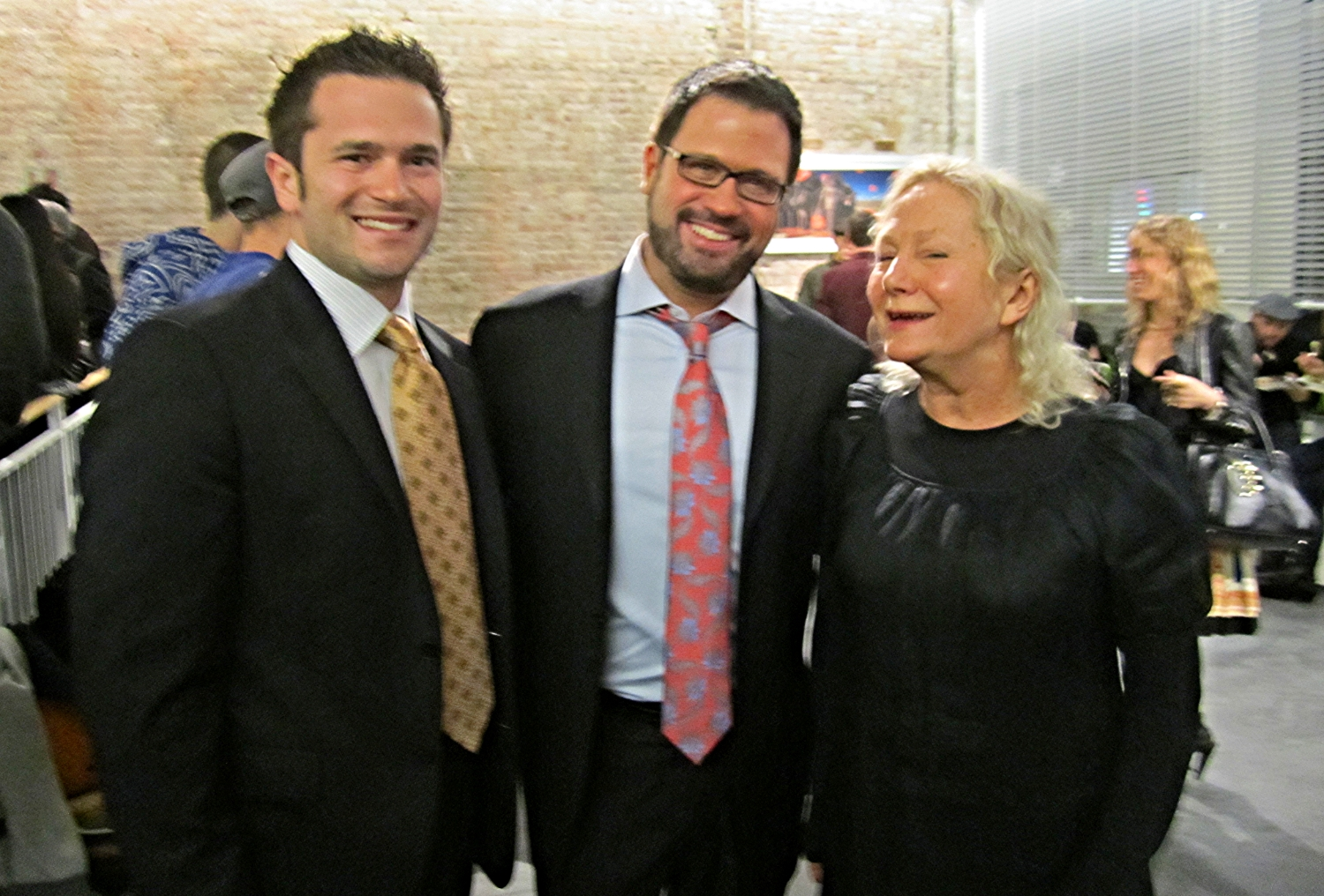 From left to right,  William Scott Walters ,  David Daniels ,  agnès b . Store opening in SOHO NYC, April 2011
