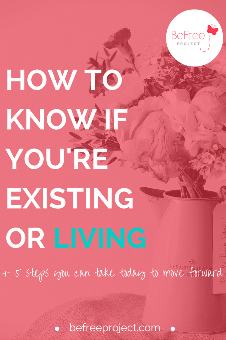 Have you ever felt like your life was on autopilot as if you're going through the motions of life just existing without a plan? Click the link below to learn the difference between living and existing.