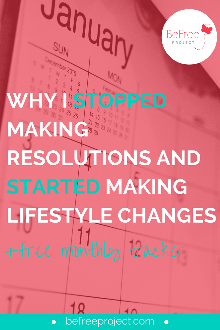 Why I stopped making #resolutions and started making #lifestyle changes #befreeproject #newyear #2016