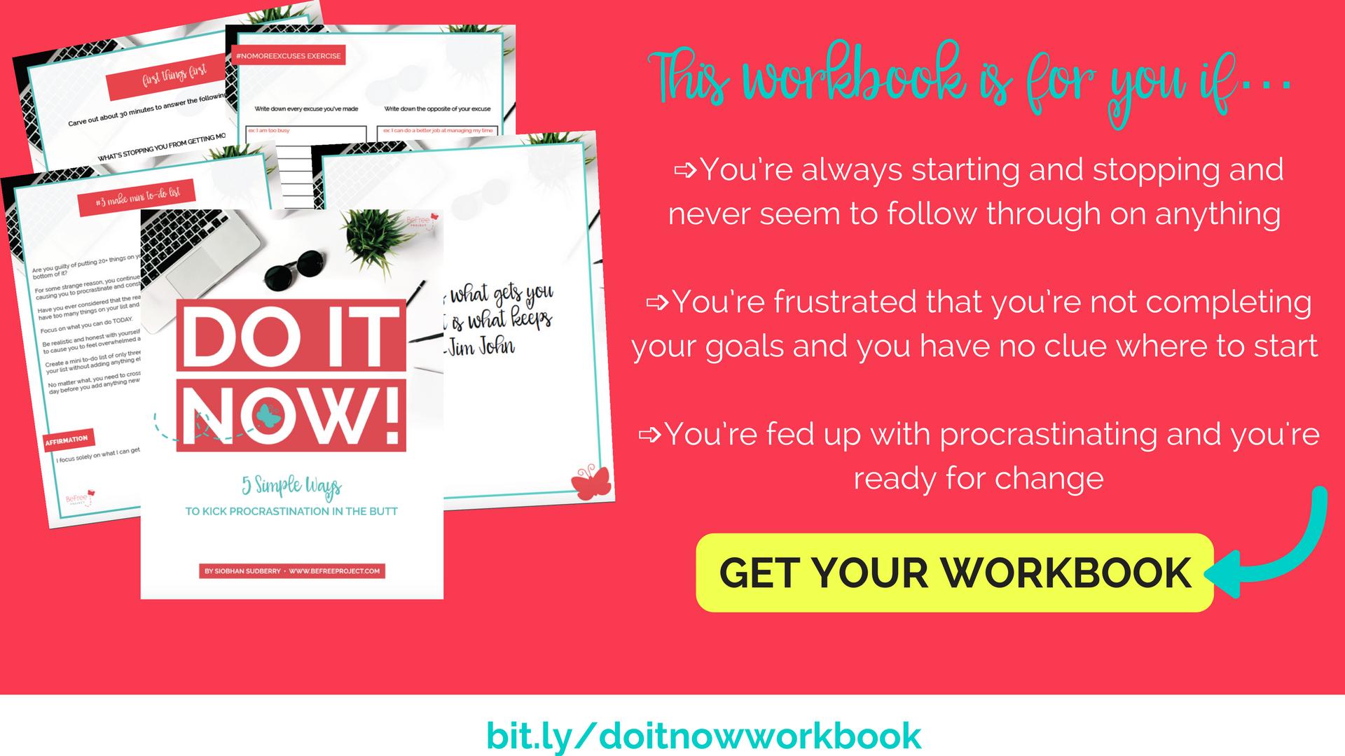 Do It Now Workshop Procrastination