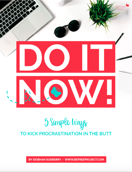 A 25-page guide that consist of lessons, exercises and worksheets that will help overcome procrastination so you can finally get stuff done. Value: $13.00 -