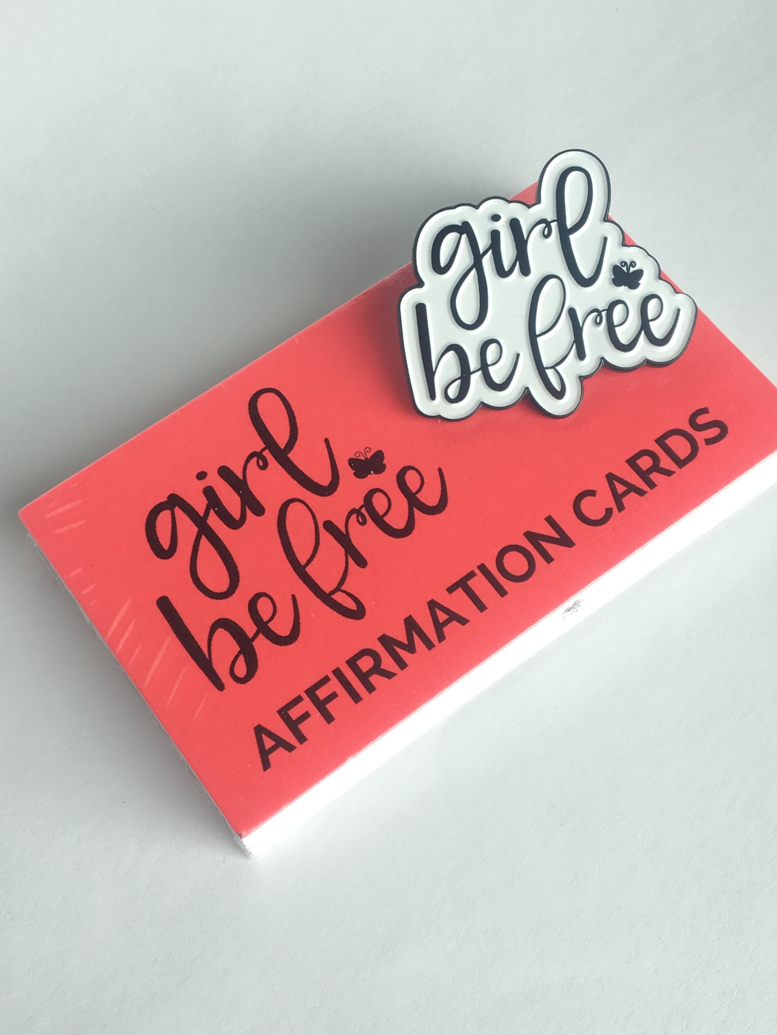 GIRL BE FREE AFFIRMATION CARD