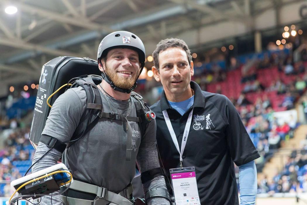IHMC pilot Mark Daniel and team leader Peter Neuhaus. Credit: ETH Zürich/Alessandro Della Bella