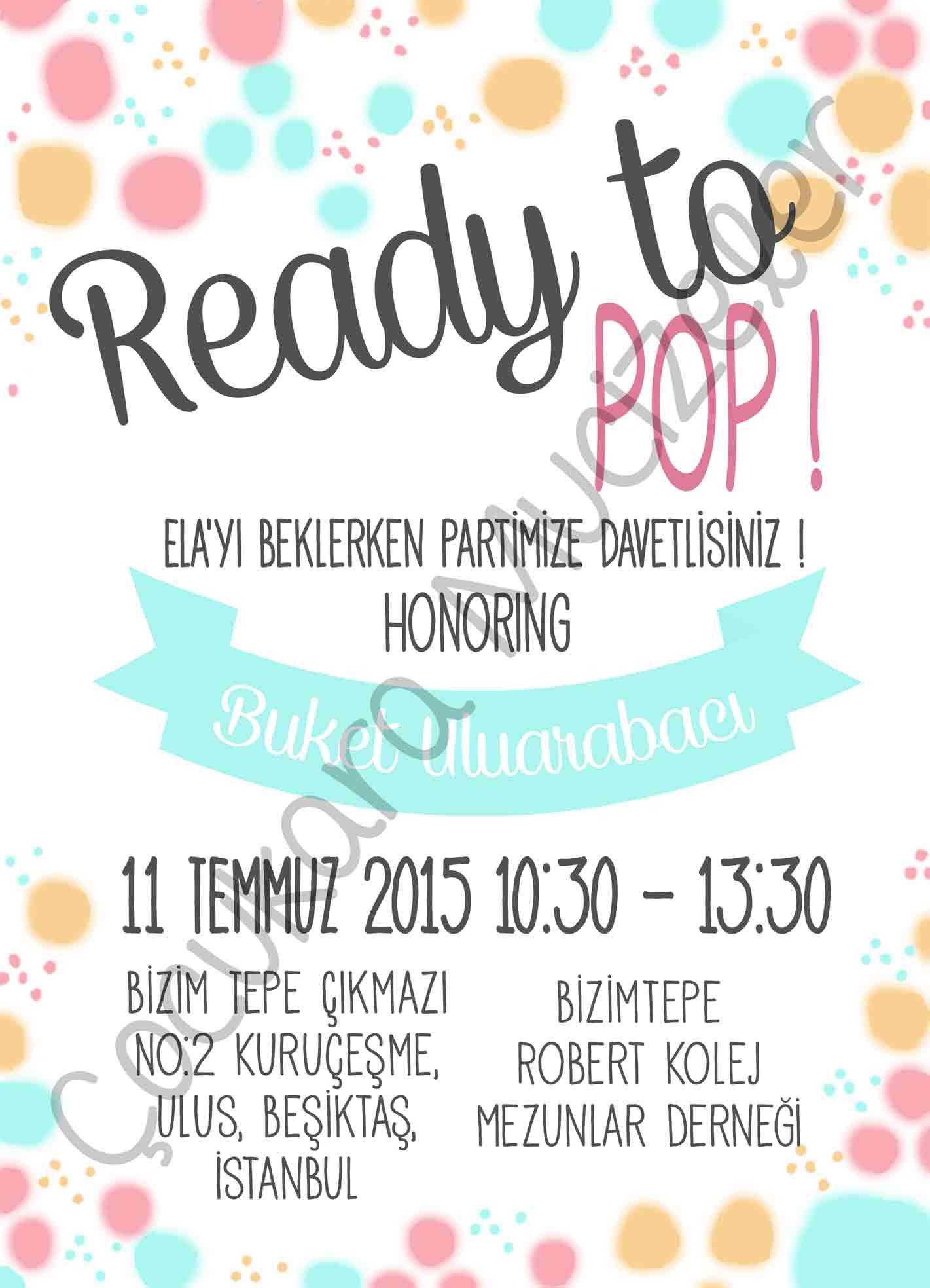 Ready To Pop! Davetiye