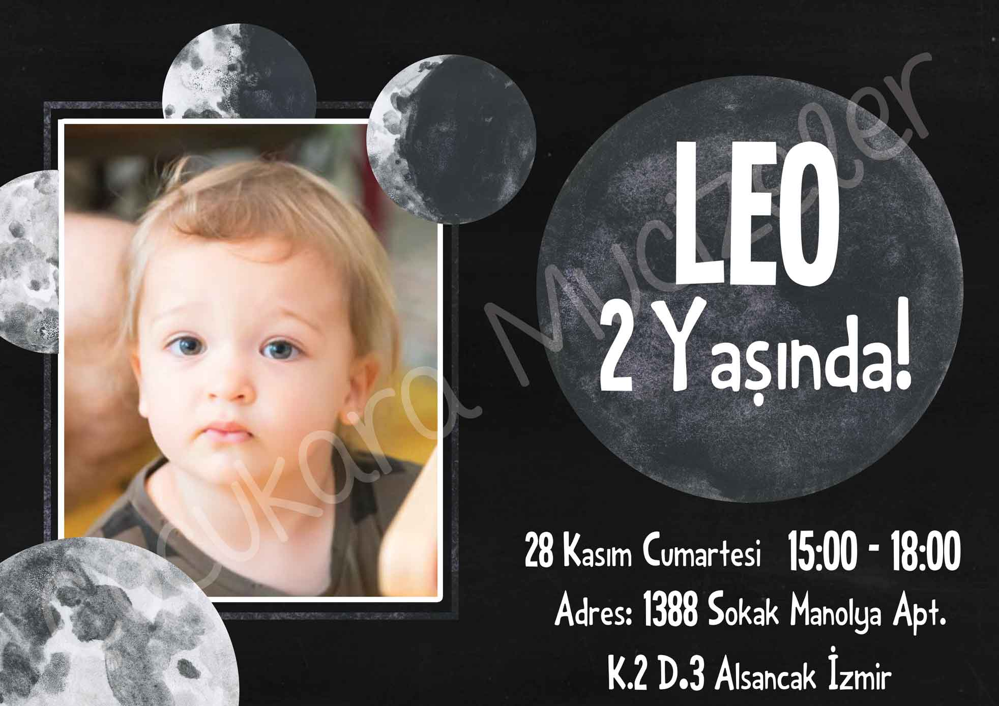 Leo 2 Yaşında! Davetiye