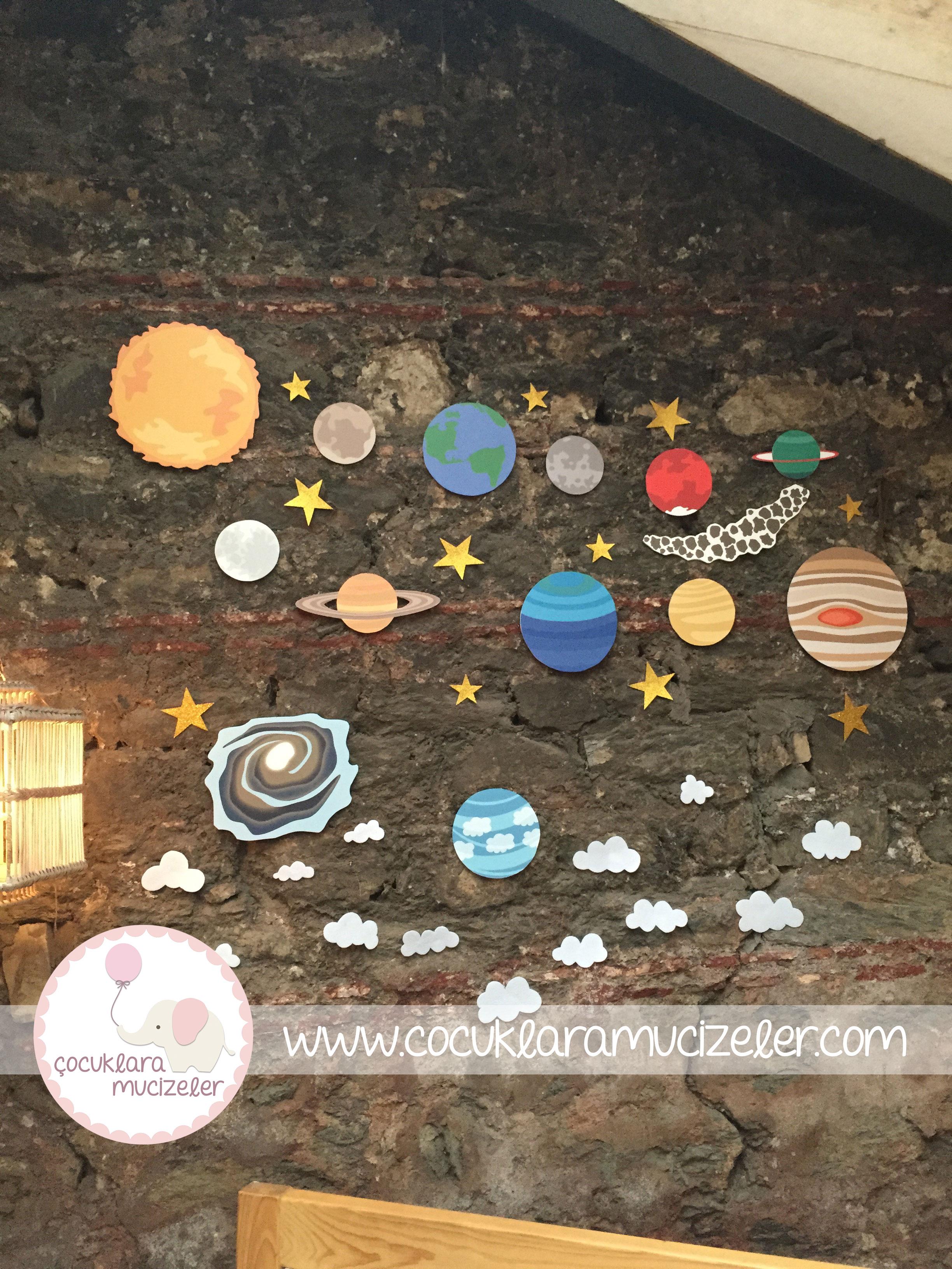 Gezegen Duvar Süsleri