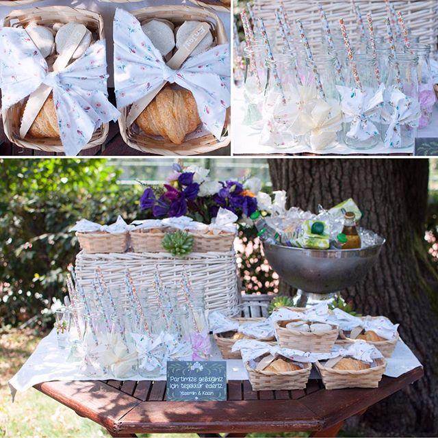 İçecek ve hediye masamız🌿🍋🍉 #cocuklaramucizeler #piknik #miniksepetler #kruvasan #hediye #recel #yaseminvekaan1yasında #limonata #doğumgünü #firstbirthday 📷👉🏻 @anthonyandgloria