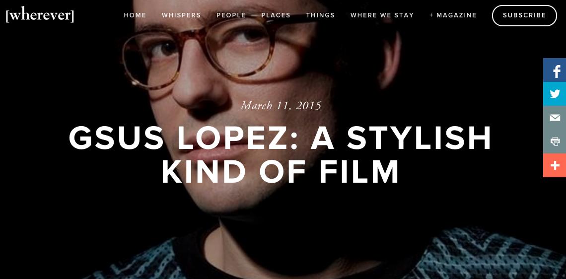 Gsus Lopez Interview