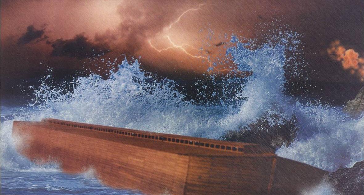 Arche Noah, während der Sintflut