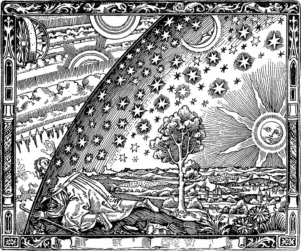 Flache Erde Mythos