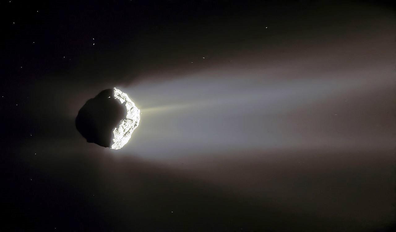 Komet 67P mit Schweif