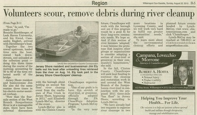 Jersey Shore river cleanup con't   Click here for larger image