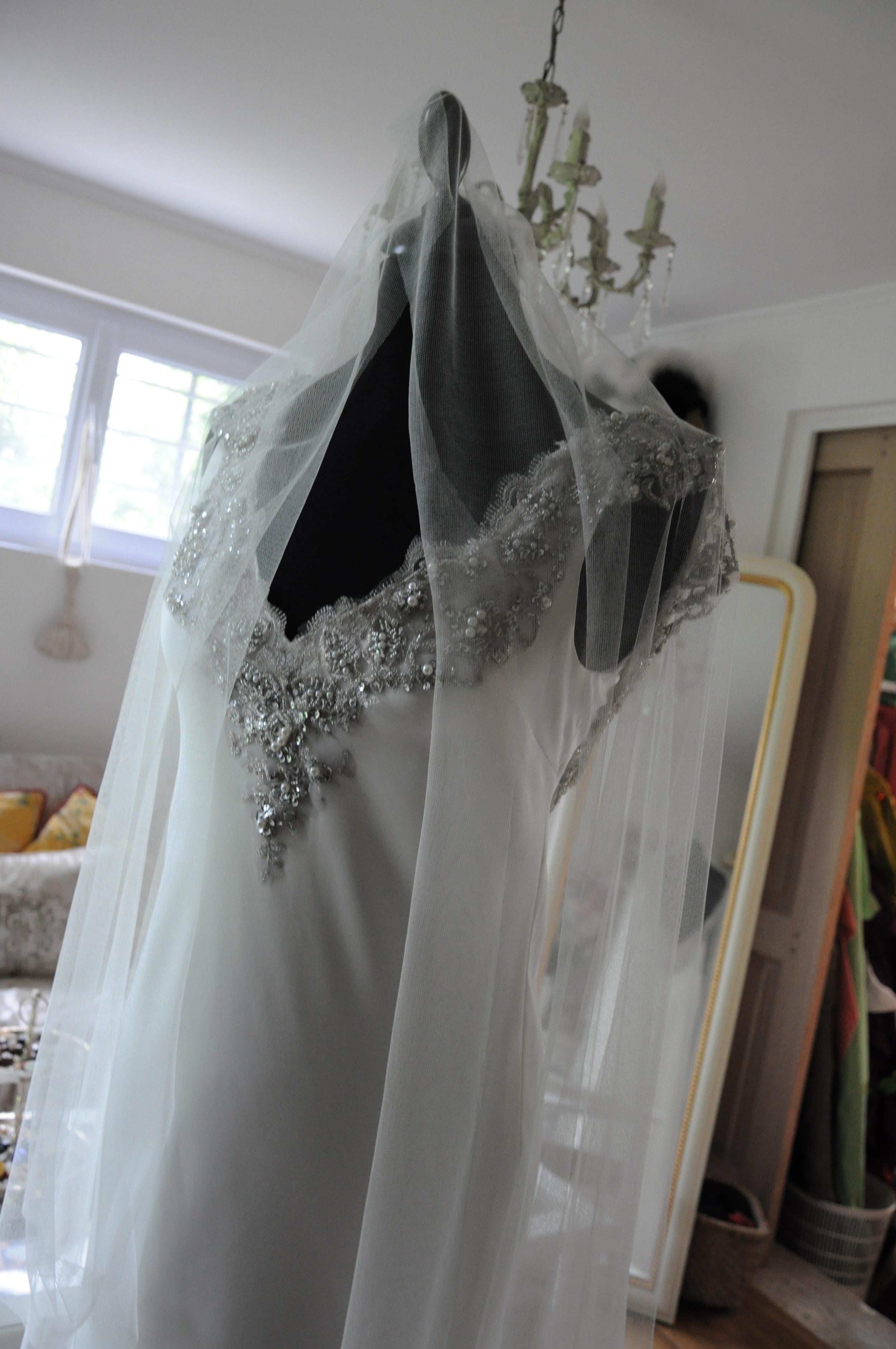 Voile de mariée en tulle de soie simple