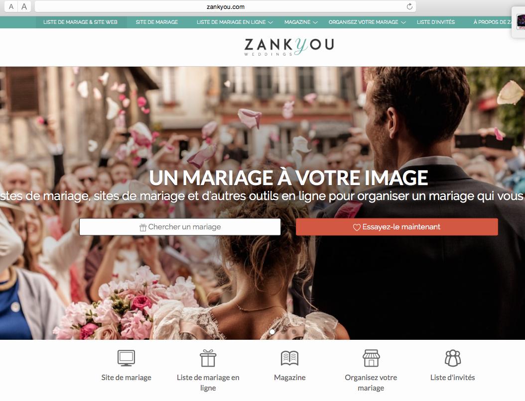 Cliquez sur l'image pour accéder au site de Zankyou.fr pour votre liste de mariage et le magazine en ligne Zankyou