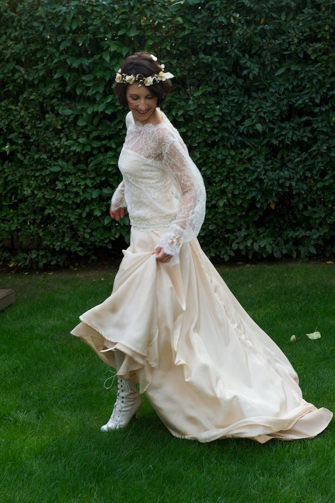 Robe de mariée Champagne fluide chemisier dentelle Agnes Szabelewski.jpg
