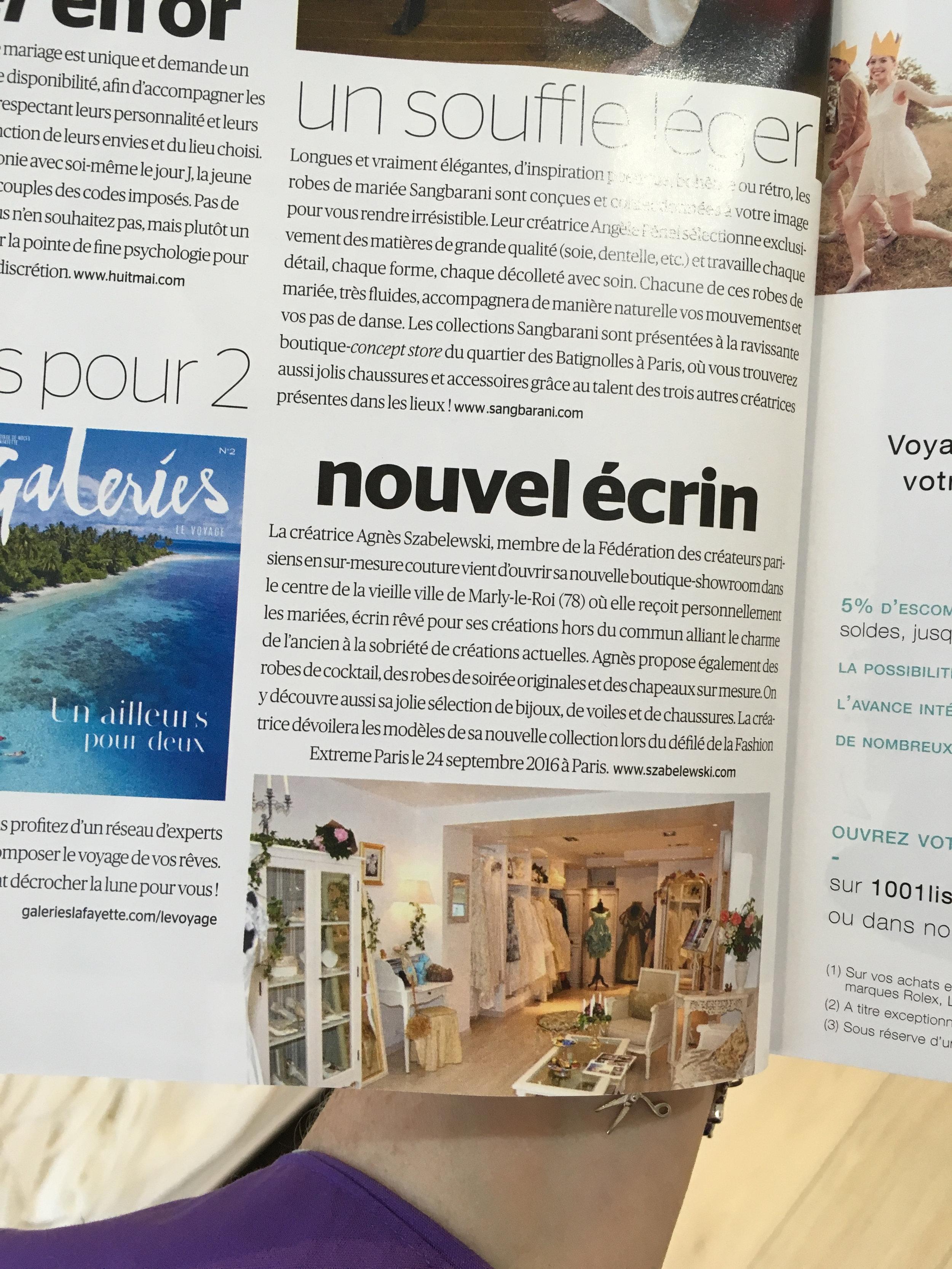 Oui Magazine article sur Agnès Szabelewski boutique.jpg