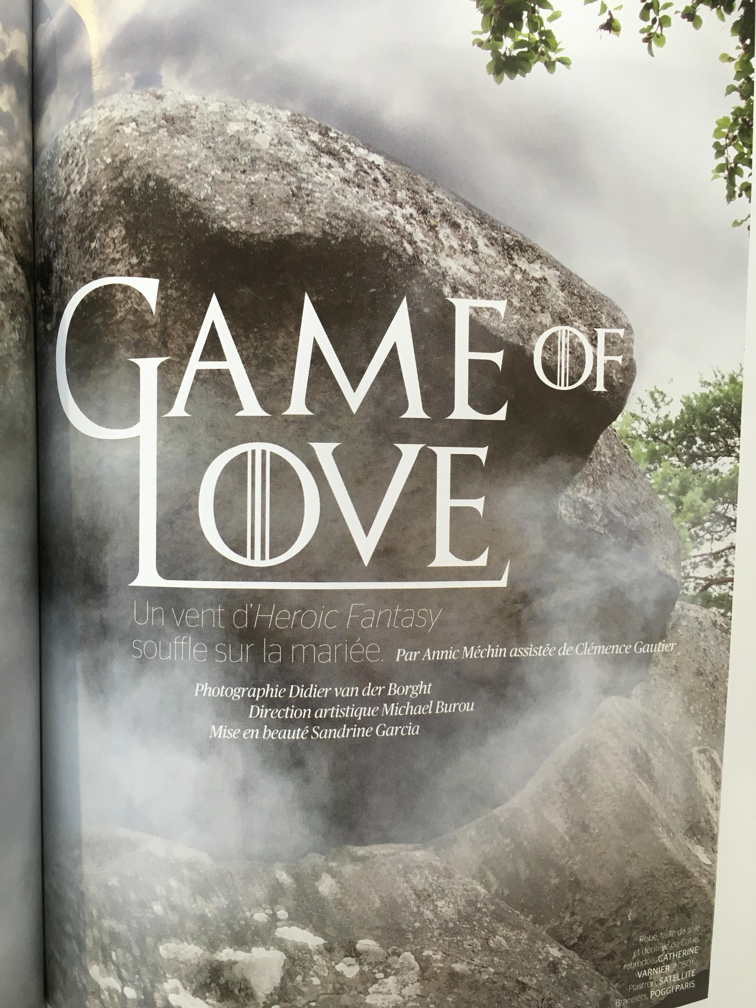 Oui magazine rédactionnel robe Agnès Szabelewski Eudocia pour série Game of Love.jpg