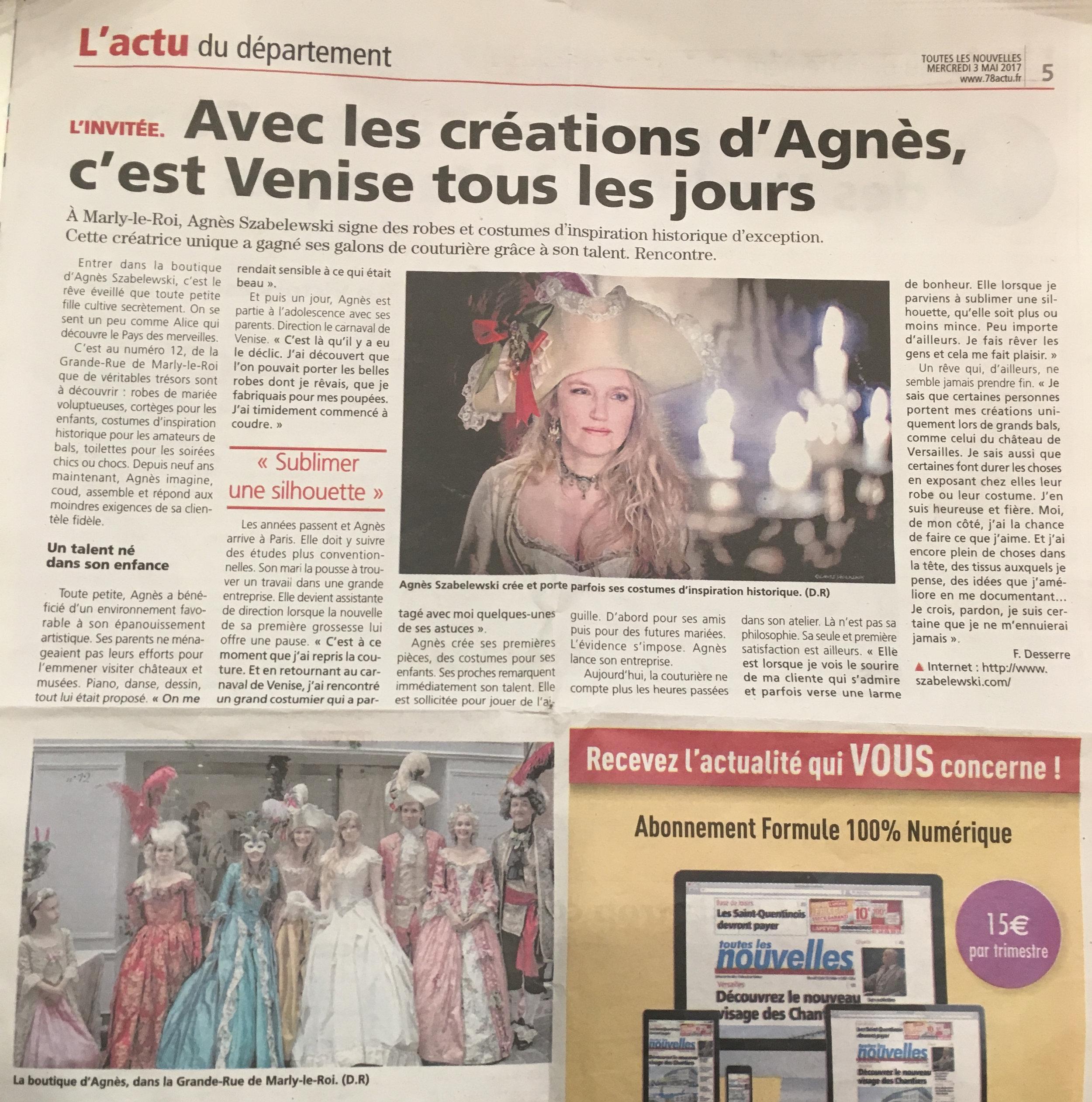 Toutes les Nouvelles article sur Agnès Szabelewski.jpg