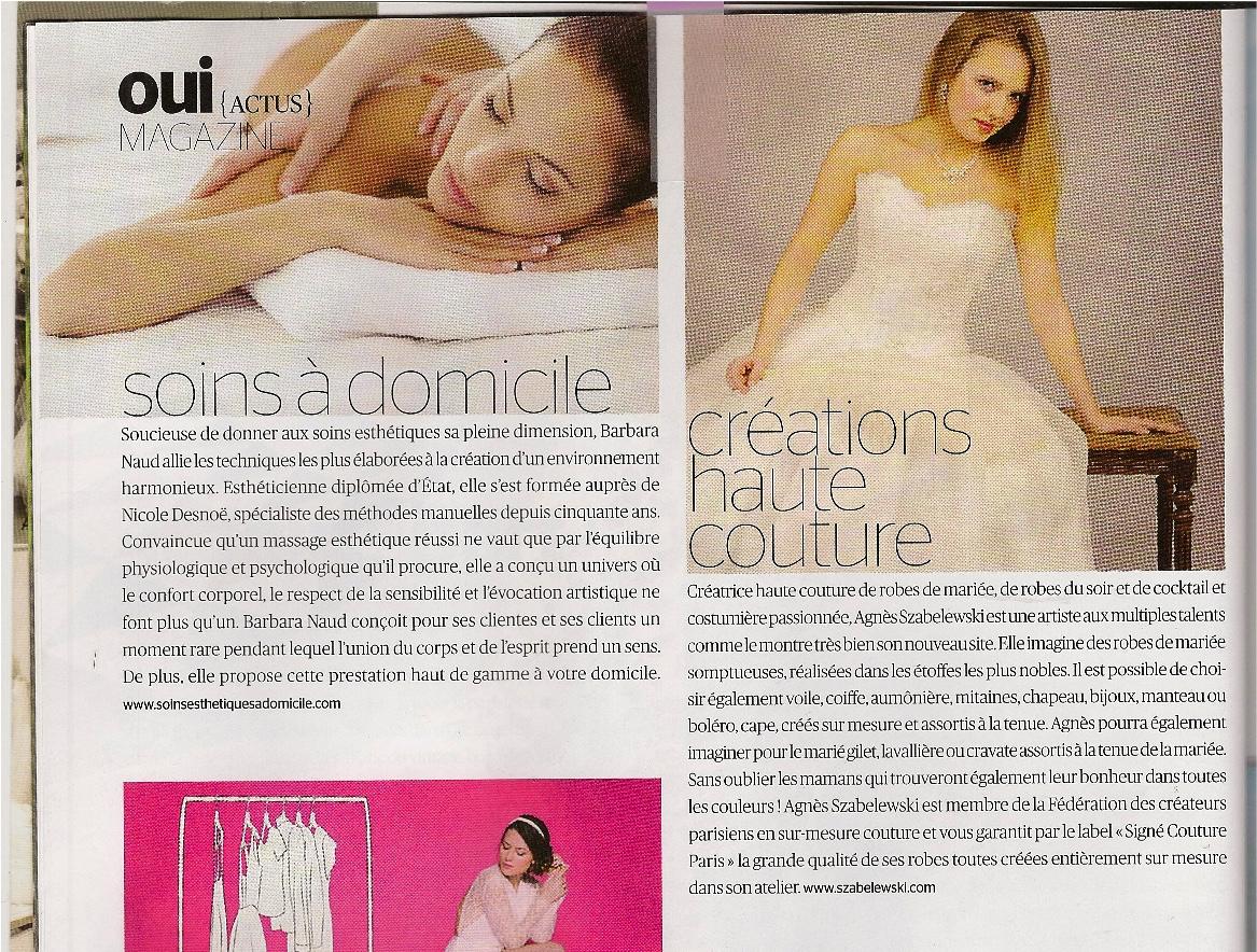 Oui Mag mars 16 article sur Agnès Szabelewski.jpg