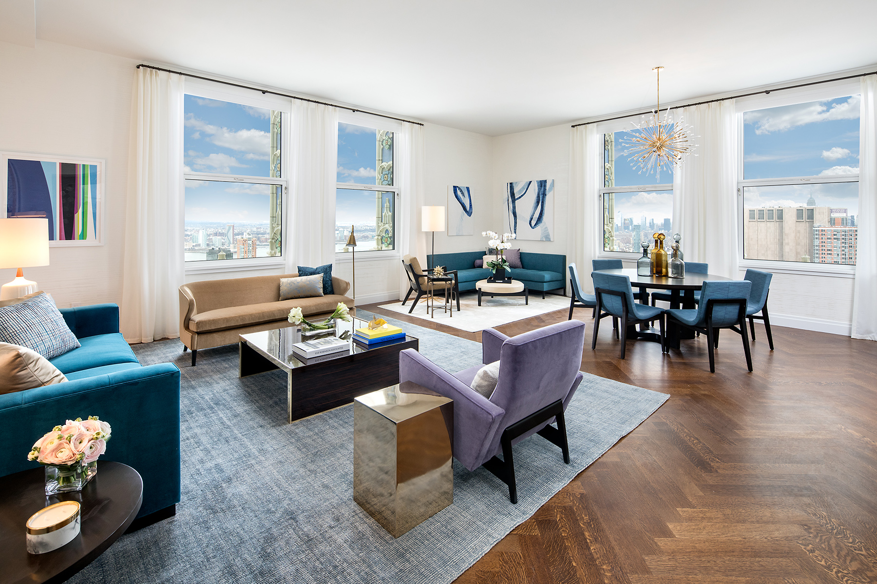 The Woolworth Tower Residences Living Room.