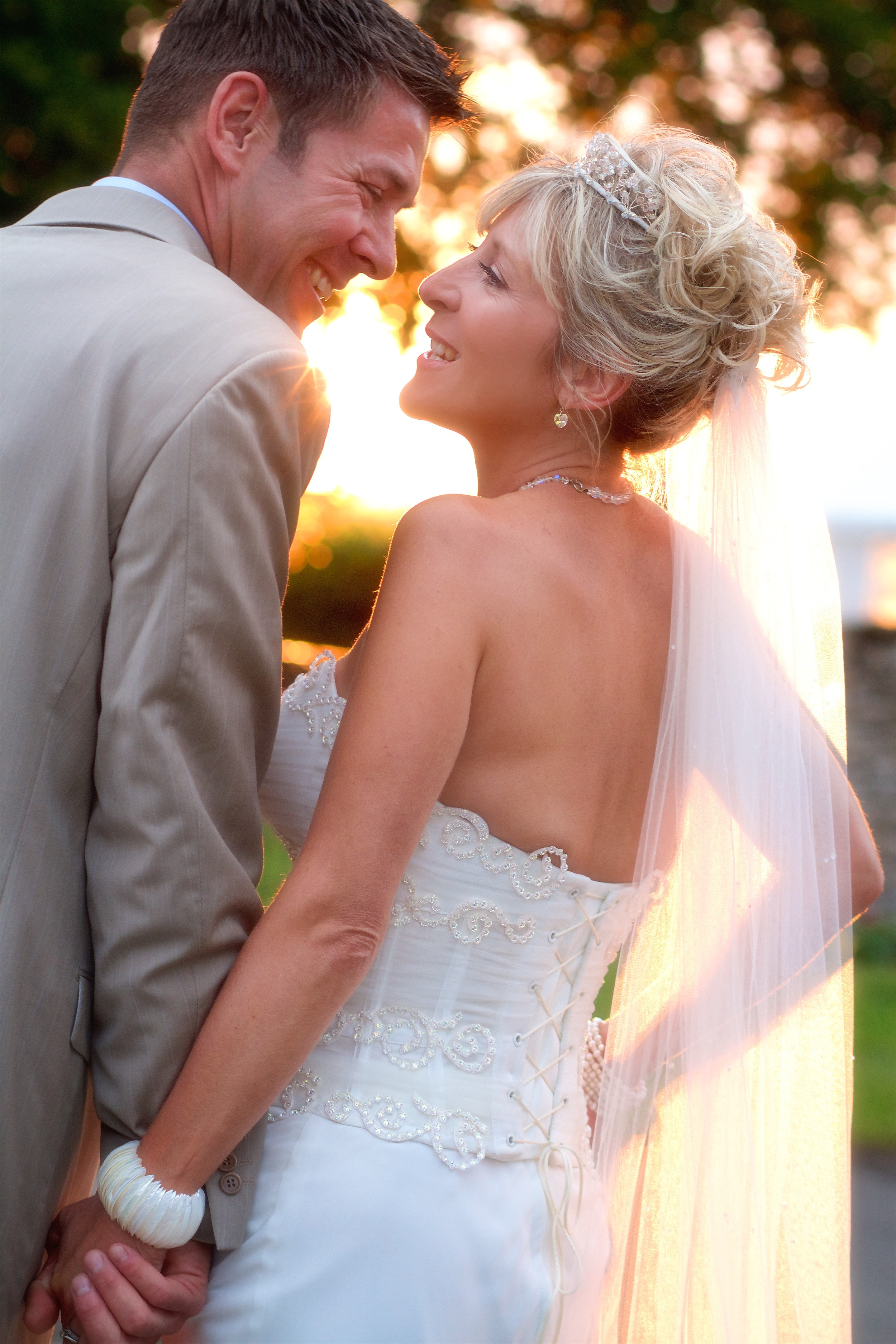 The Wedding Couple in the Evening Light. © Wedding Photography by Vivid Confetti