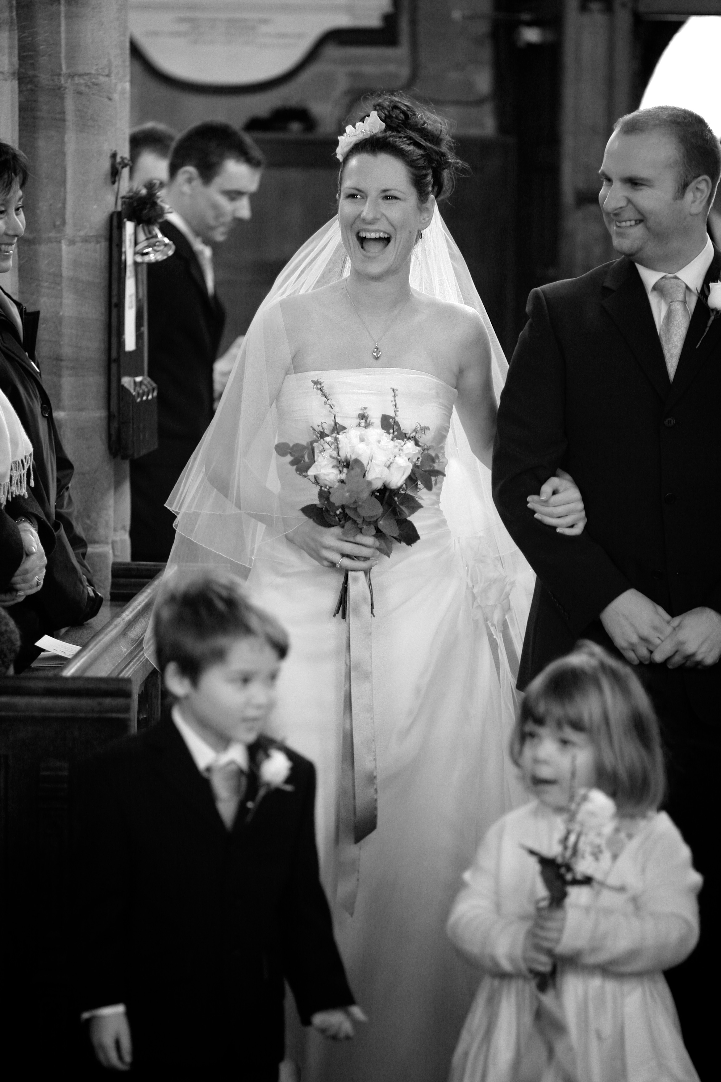 Eleanor arrives at Church. © Wedding Photography by Vivid Confetti