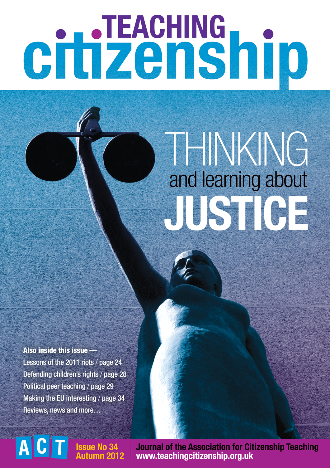 Teaching Citizenship 34 Cover
