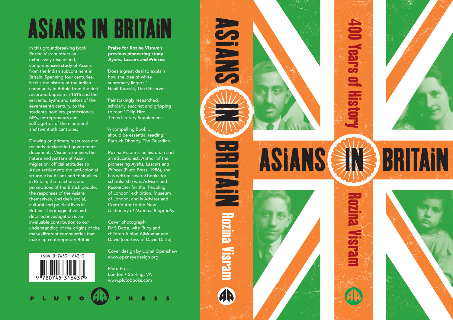 Asians in Britain front & reverse cover